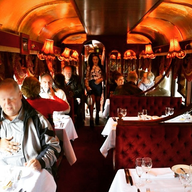 A bit of old world romanticism - inside the carriage @tramrestaurant #melbourne #ilovemelbourne #tram #melbourneigers #foodstagram #instafood #tourism #tourist #lisaeatsworld