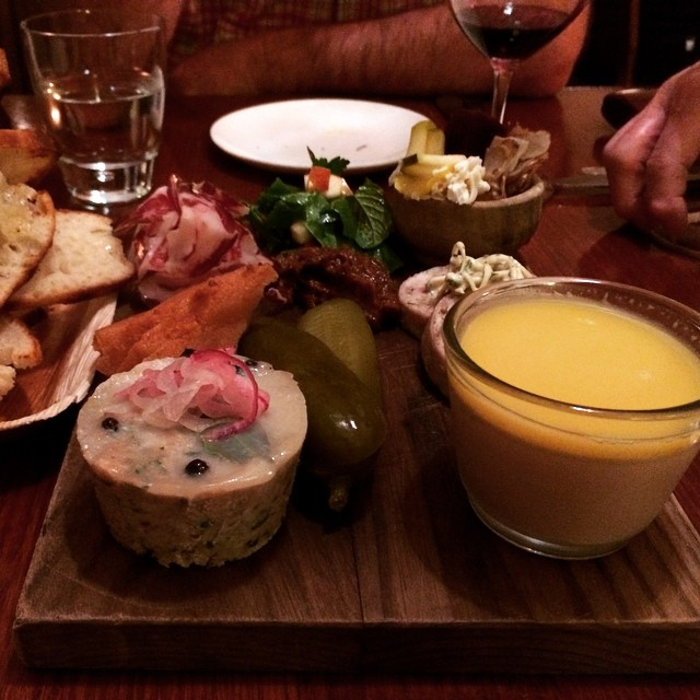 Charcuterie board @merrijigkitchen - loving their duck liver pate #instafood #instagood #foodstagram #portfairy #travel #foodblogger #lisaeatsworld #visitvictoria #hungry