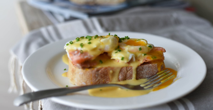 Eggs Benedict with Tassal Tasmanian Salmon