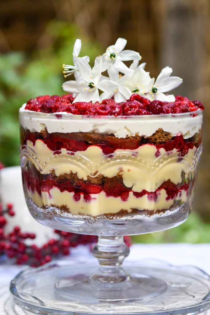 Gingerbread And Raspberry Christmas Trifle Lisa Eats World